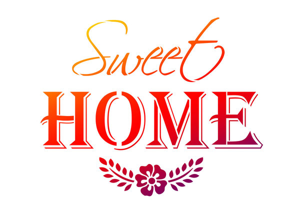 "Viva Decor Universal-Schablone, A4 "" Sweet Home """