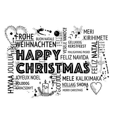 Frohe Weihnachten In Vielen Sprachen.Silikon Stempel Sharing Christmas Frohe Weihnachten In